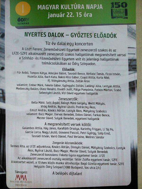 NYERTES DALOK – GYŐZTES ELŐADÓK  – Tíz év dalai egy koncerten